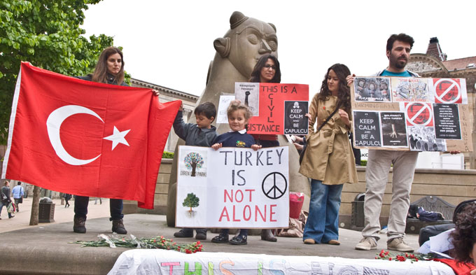 Turkish Solidarity Demo Birmingham 5th June 2013