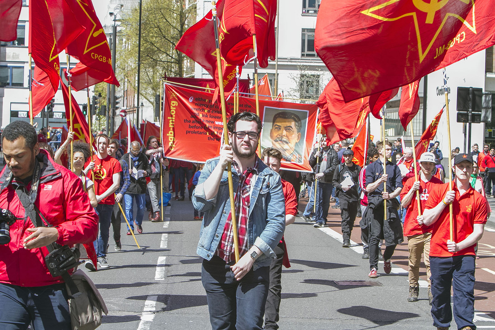 Red Youth marchers on 1 May 2016
