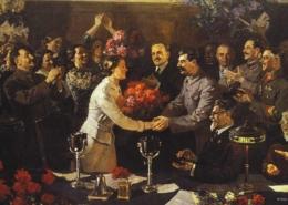 Vasiliy Yefanov, An Unforgettable Meeting, 1937