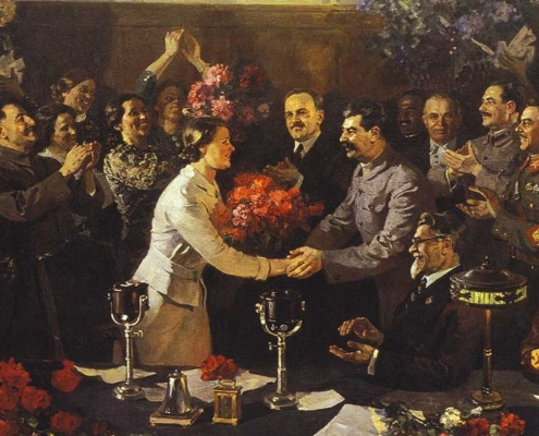 Vasiliy Yefanov, An Unforgettable Meeting, 1937