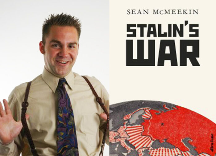 Author Sean McMeekin and his book Stalin's War