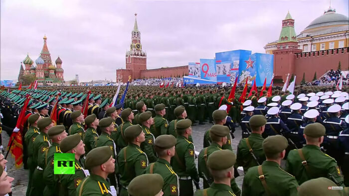 Victory Day Parade on Red Square, May 9th, 2021